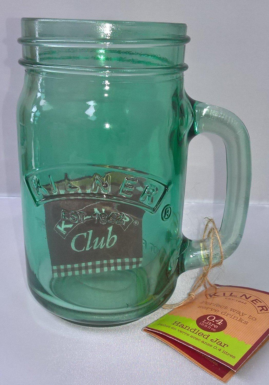 0.4ltr Kilner Green Handled Drinking Jar