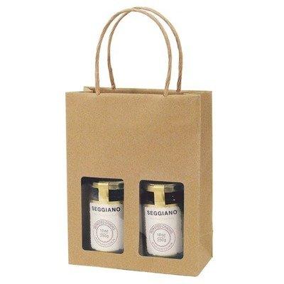 Gift Bag Kraft 2 Jar Deli Gift Bag