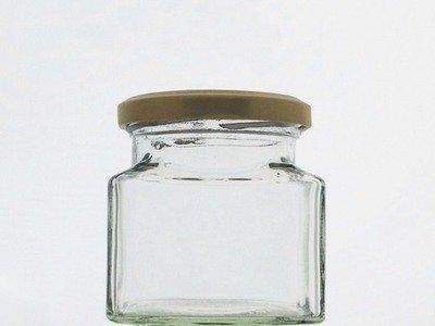 130ml 4oz Square Jar
