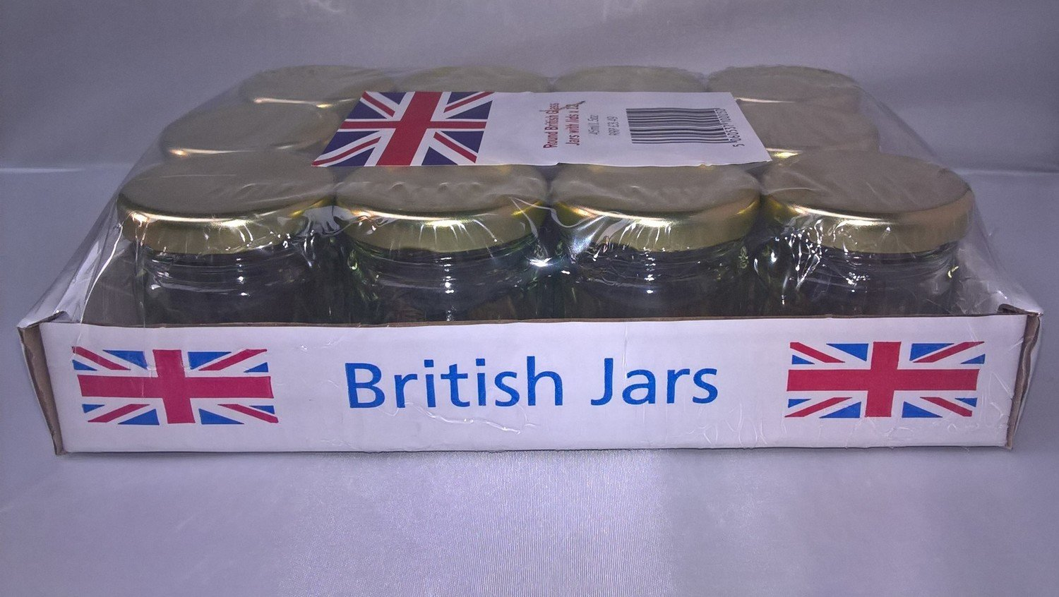 12 x 41ml 1.5oz Mini Round jar with Gold Lids