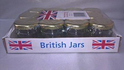 12 x 41ml 1.5oz Mini Round jar with Gold Lids