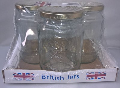 3 x 2lb 32oz Traditional Jars with Gold Lids