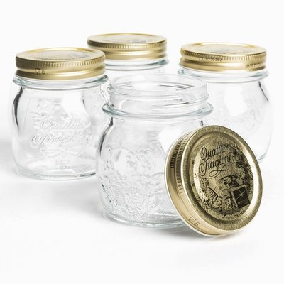 4 x 150ml Quattro Stagioni Vasco Jar with Gold Lids