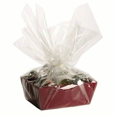 Hamper Gift Tray with Shred and Cellophane