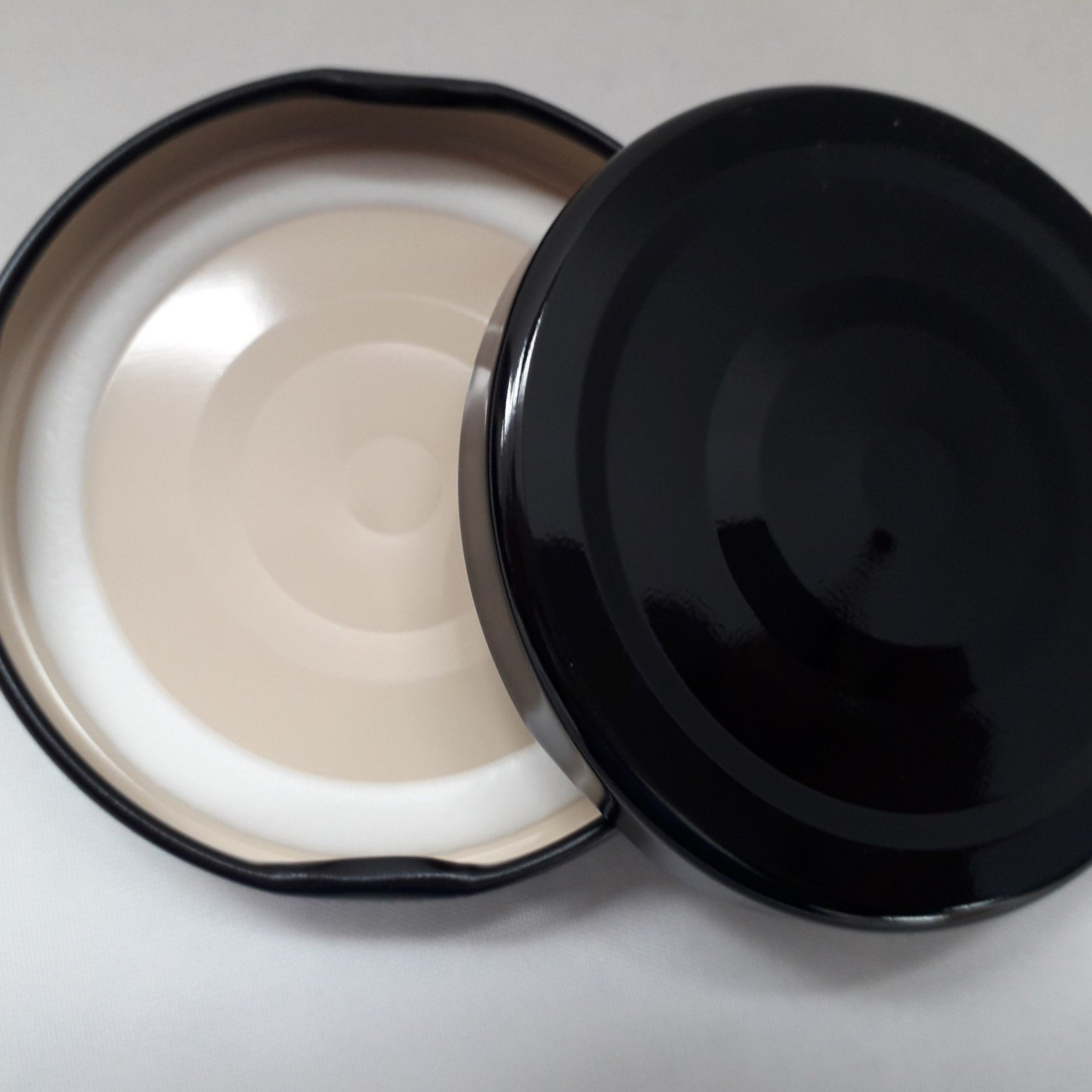 Plain Black Button Lids