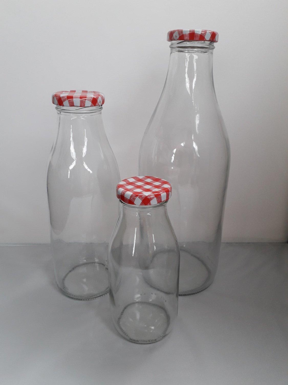 1 Litre Vintage Style Milk Bottle