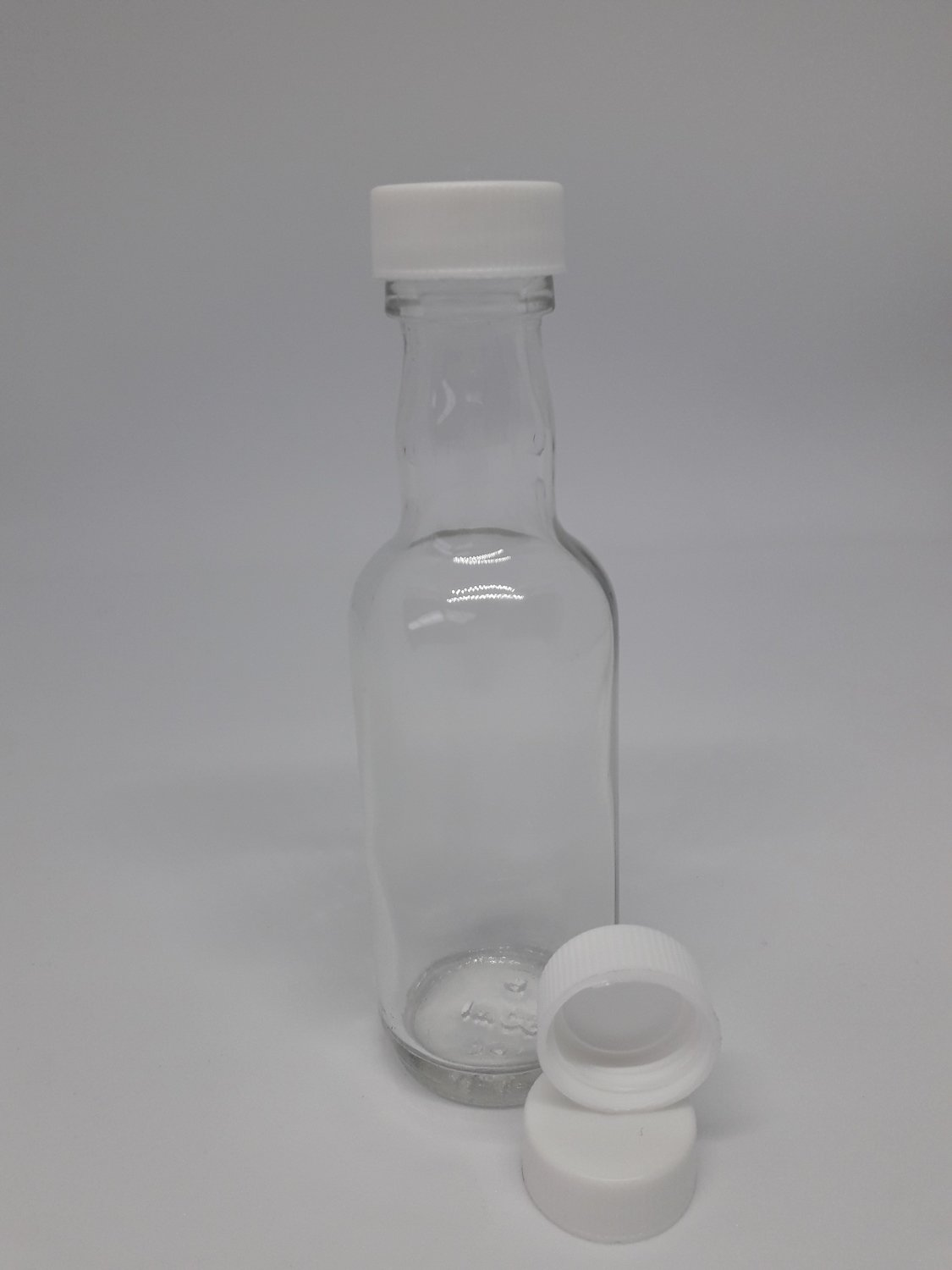 50ml Mini Spirit Bottle with white cap