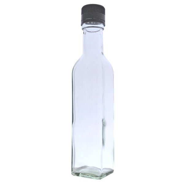 250ml Marasca Bottle with Black Cap