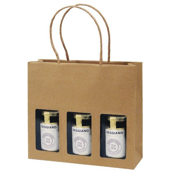Gift Bag Kraft 3 Jar Deli Gift Bag