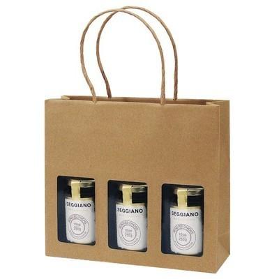 Gift Bag Kraft 3 Jar Deli Gift Bag