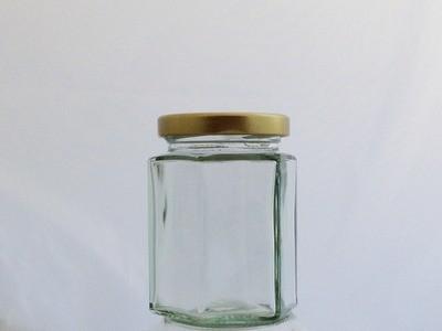 Bulk Buy 190ml 8oz Hexagonal Jar