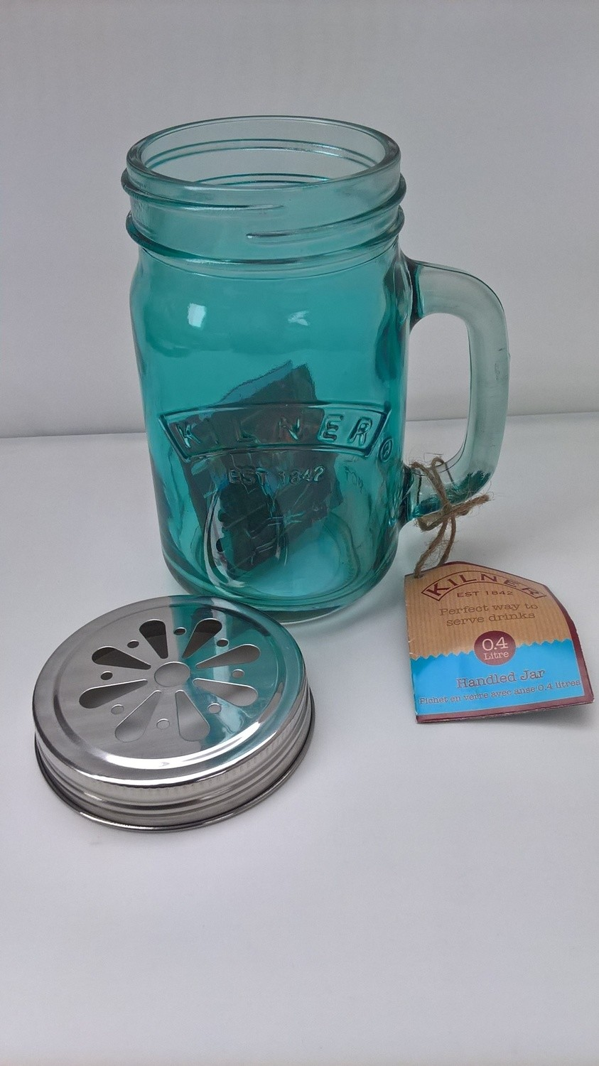 0.4ltr Kilner Blue Handled Drinking Jar