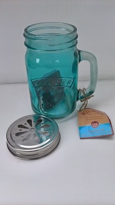 0.4ltr Kilner Blue Handled Drinking Jar