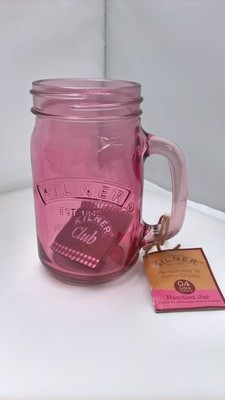 0.4ltr Kilner Pink Handled Drinking Jar