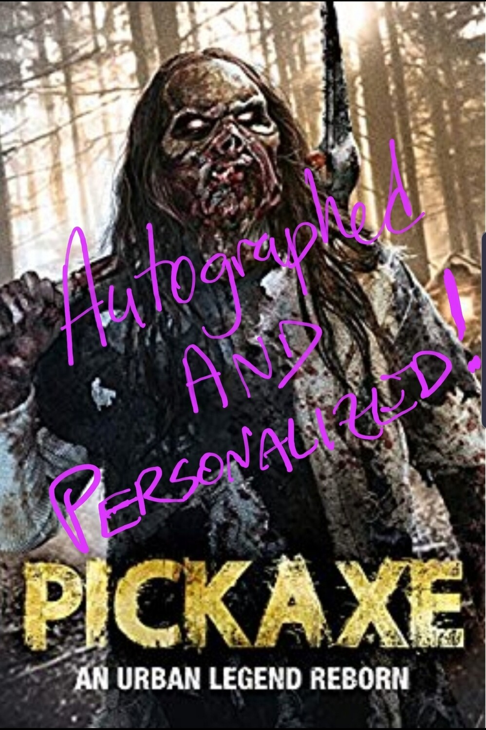 AUTOGRAPHED PICKAXE DVD!