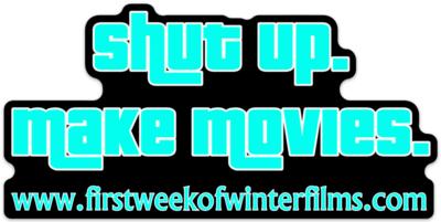 SHUT UP.  MAKE MOVIES.  Die-Cut Sticker!