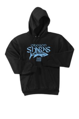 Port & Company® - Youth Core Fleece Pullover Hooded Sweatshirt -Blue Shark
