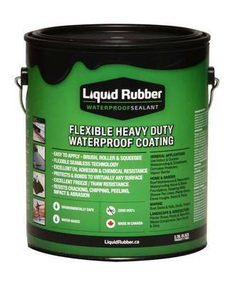 Liquid Rubber Pond Coating- 1 Gallon Black