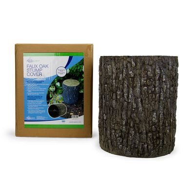 Faux Oak Stump Cover by Aquascape