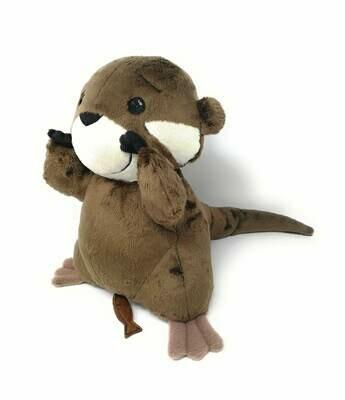 Personalisierte Spieluhr Otter Gr. 30 cm, Kuscheltier Otter mit Namen und Wunschmelodie, süßes Geschenk für Geburt, Taufe, Geburtstag