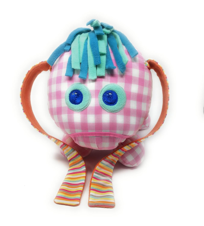 Das kleine Ich Bin Ich Stofftier personalisierbar mit Namen aus Öko Baumwolle, groß. Geschenk zum Geburtstag, Einschulung
