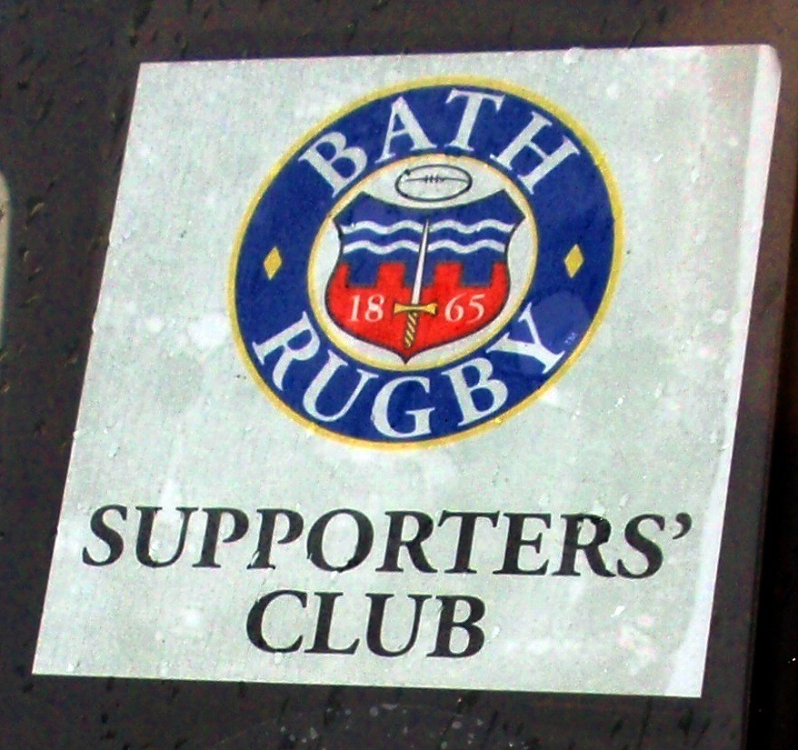 Bath Rugby Supporters' Club Car Sticker