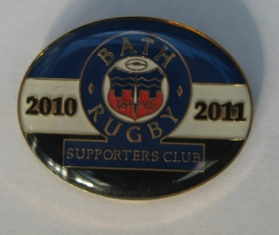Bath Rugby Supporters' Club Historic Pin Badge - 2010-11