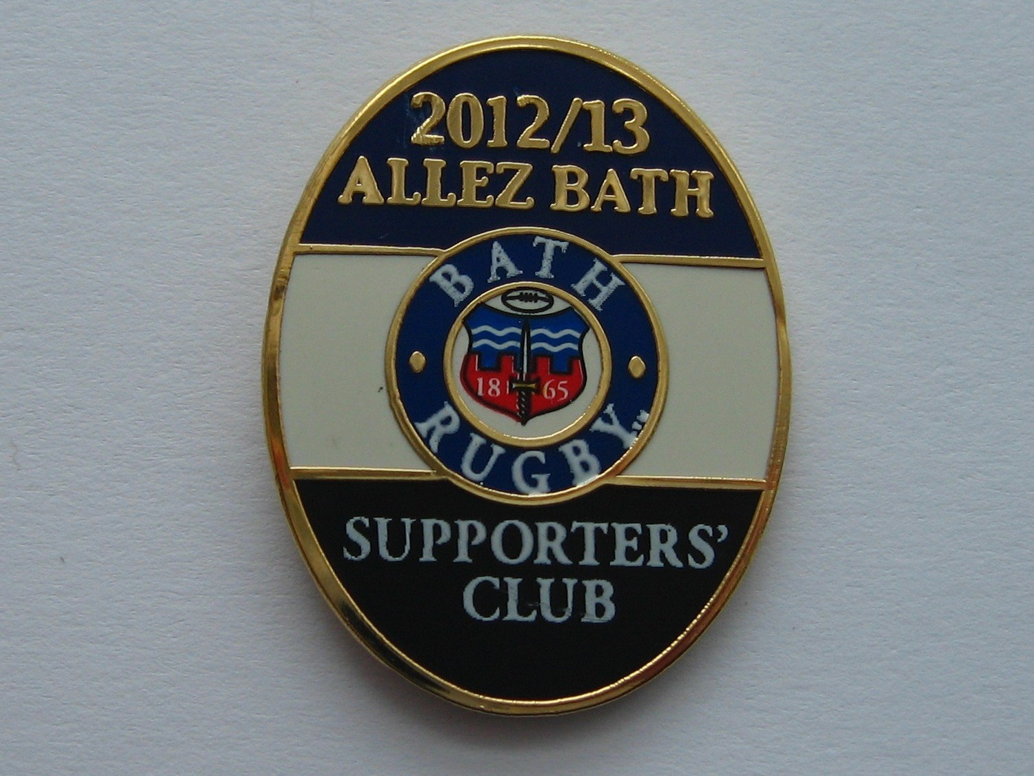 Bath Rugby Supporters' Club Historic Pin Badge - 2012-13