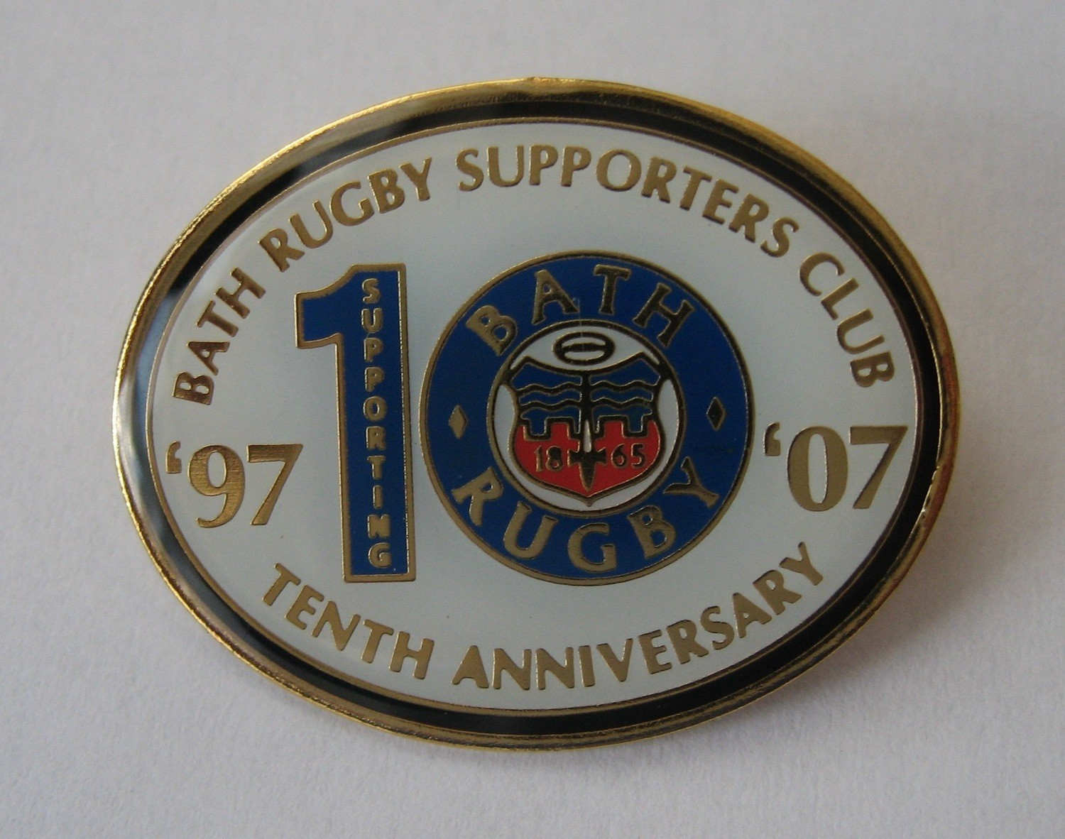 Bath Rugby Supporters' Club Historic Pin Badge - 10th Anniversary 2006-07
