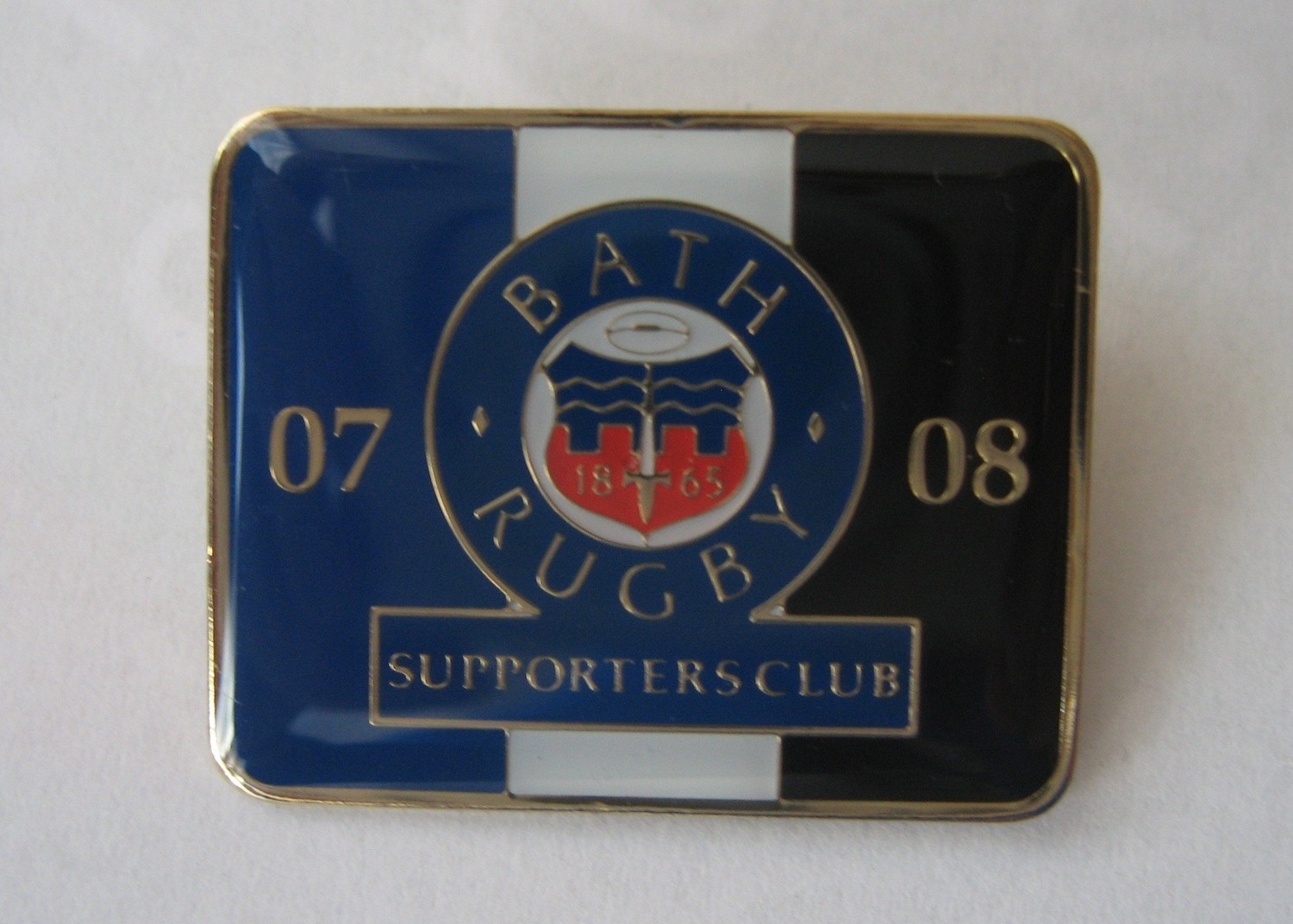 Bath Rugby Supporters' Club Historic Pin Badge - 2007-08
