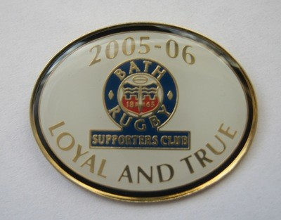 Bath Rugby Supporters' Club Historic Pin Badge - 2005-06