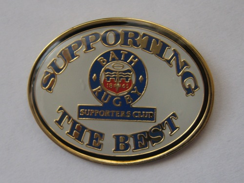 Bath Rugby Supporters' Club Historic Pin Badge - Supporting the Best