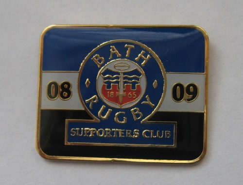 Bath Rugby Supporters' Club Historic Pin Badge - 2008-09