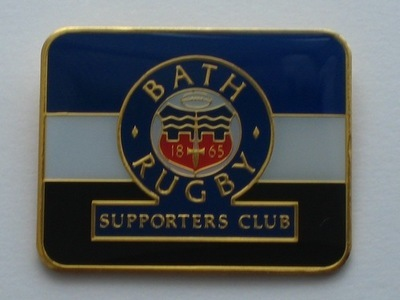 Bath Rugby Supporters' Club Historic Pin Badge - 2009-10