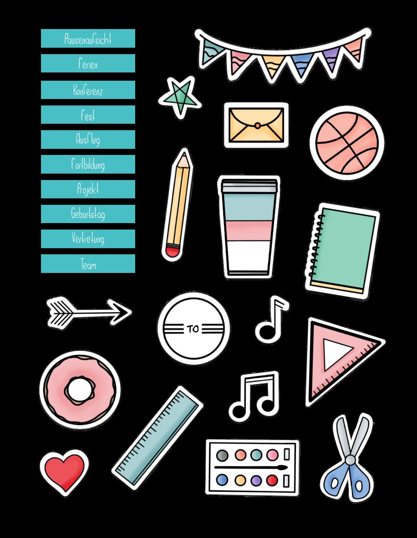 Sticker go digital Lehrerplaner mint