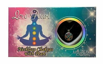 Love Pearl necklace chakras with pearl