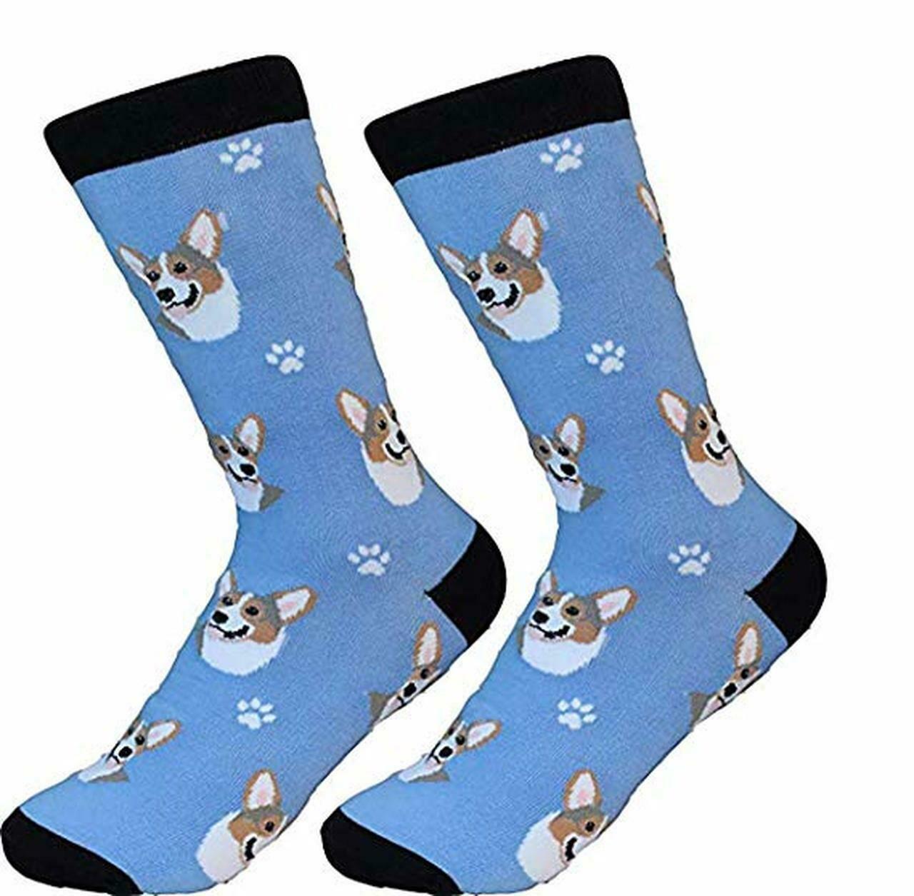 Blue Corgi Socks