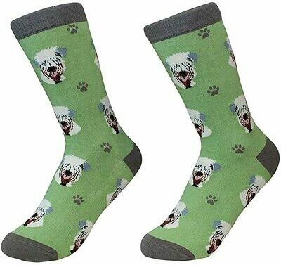 Green Wheaten Terrier Socks