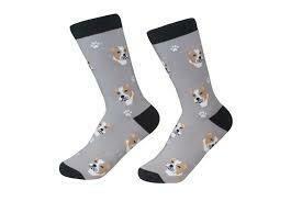 Grey Pit Bull Socks