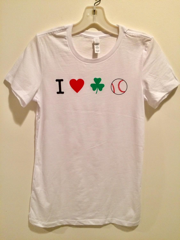 I LOVE IRISH BASEBALL Women's Icon T-shirt