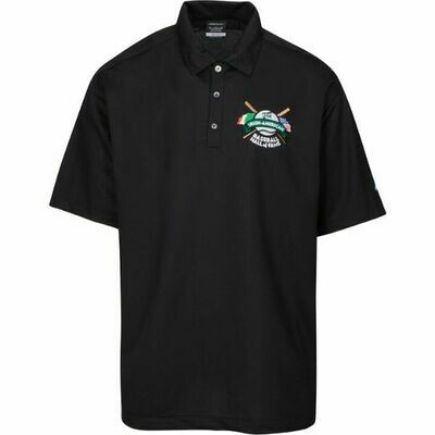 IABHOF Black Golf Shirt