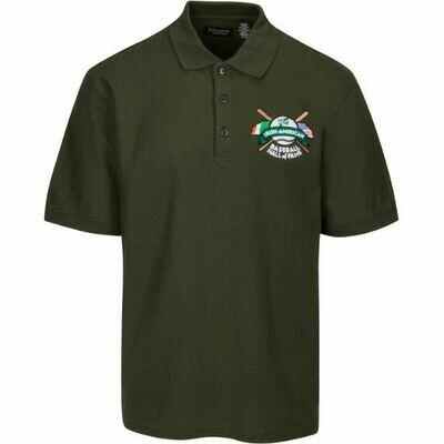 Green Irish American Baseball Hall of Fame Dri-Fit Polo by Sportek