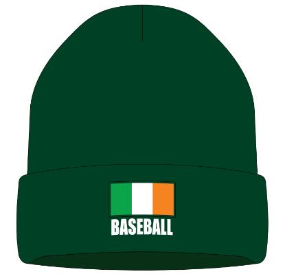 Irish Baseball Cuffed Knit Cap with Irish Flag IRLKNITCAP014
