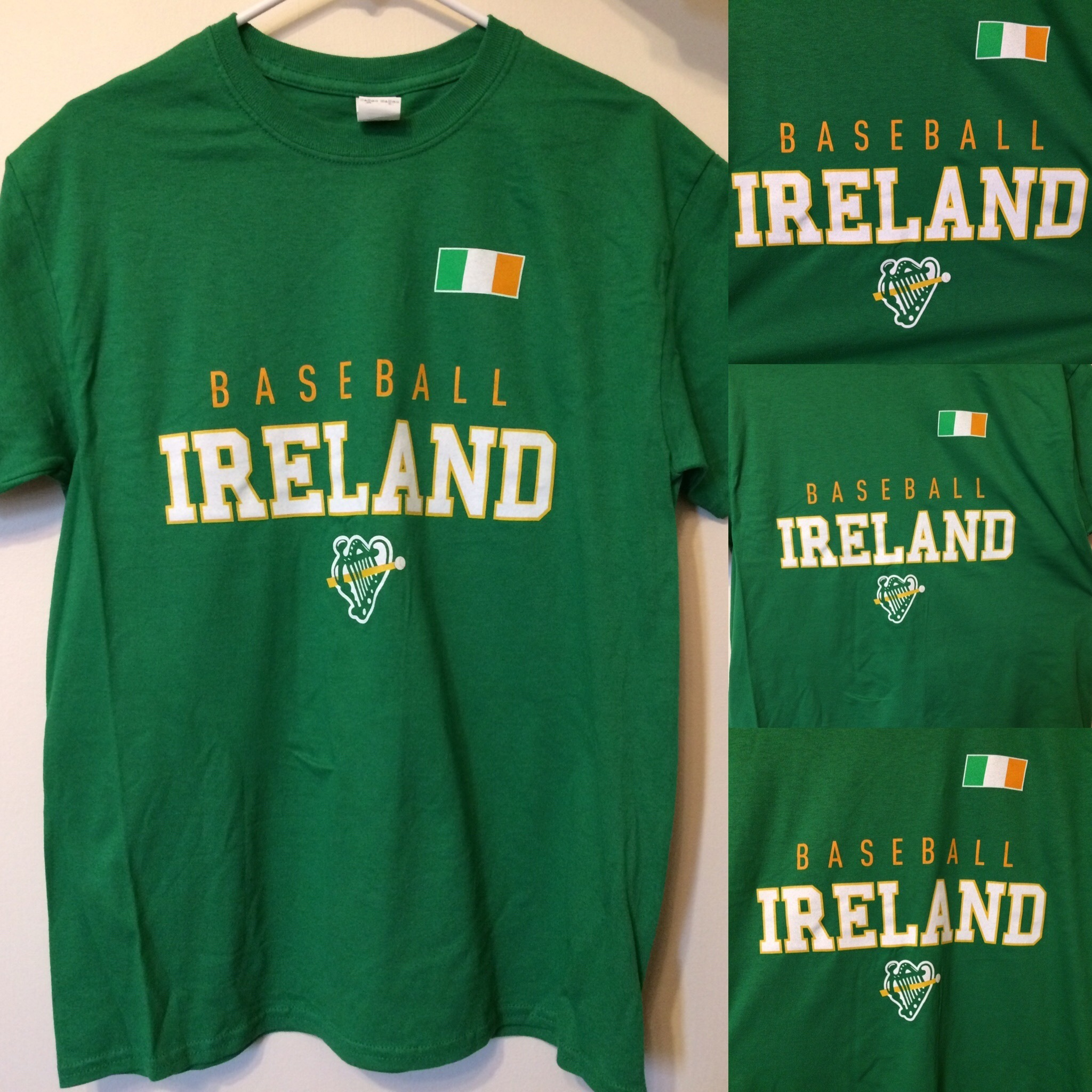 Green Baseball Ireland T-shirt IRLTEE016