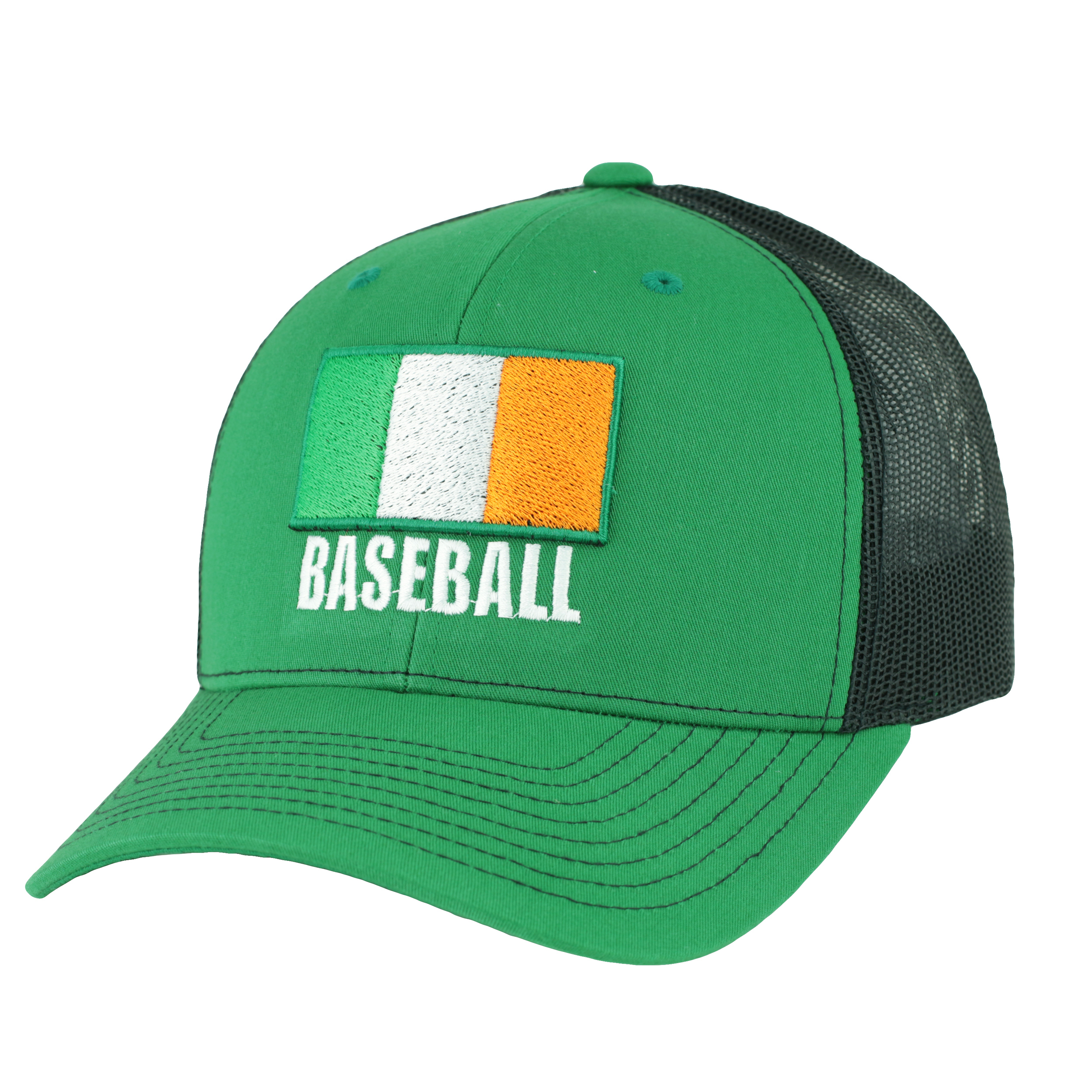 Irish Baseball Ireland Flag Green Snapback Trucker Cap BIADJCAP017ML