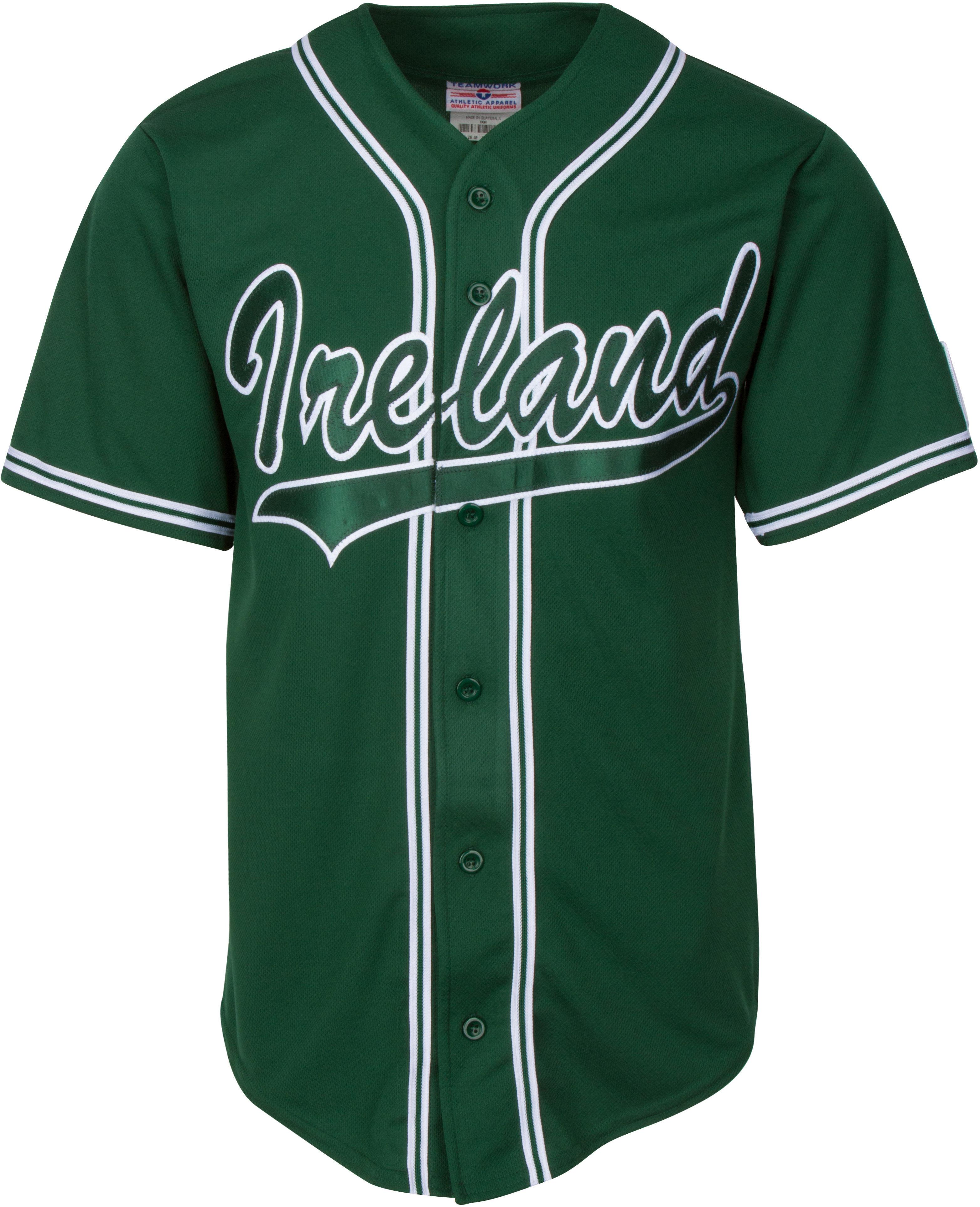 Team Ireland Irish National Baseball Team GREEN Customized Game Jersey IRLJER004