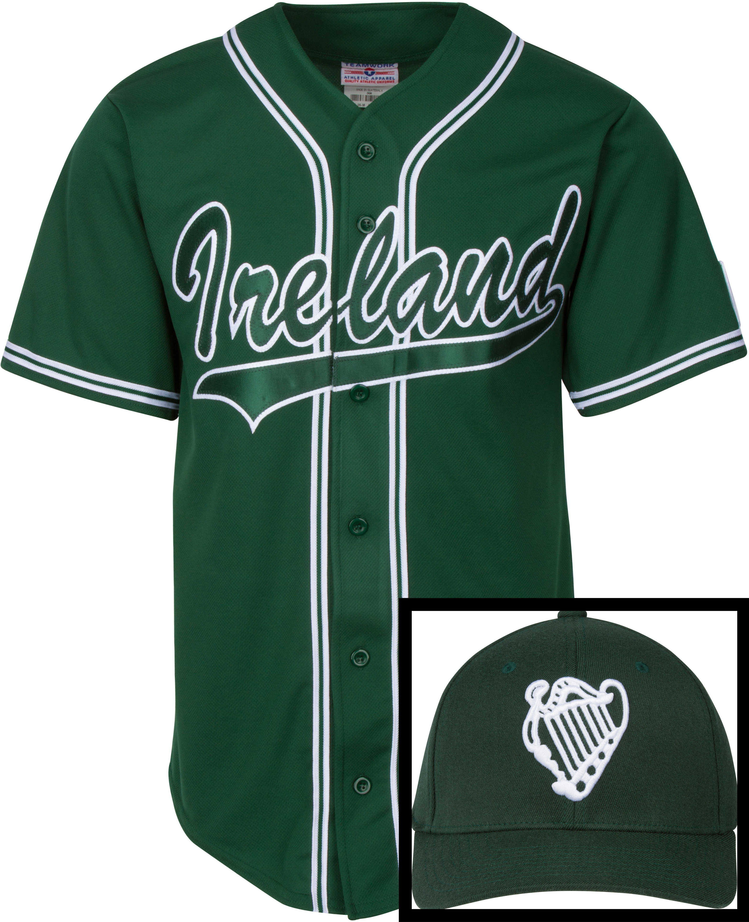 Ireland Baseball Jersey and Free Cap (Limited Time Offer) JerseyFreeCapOffer