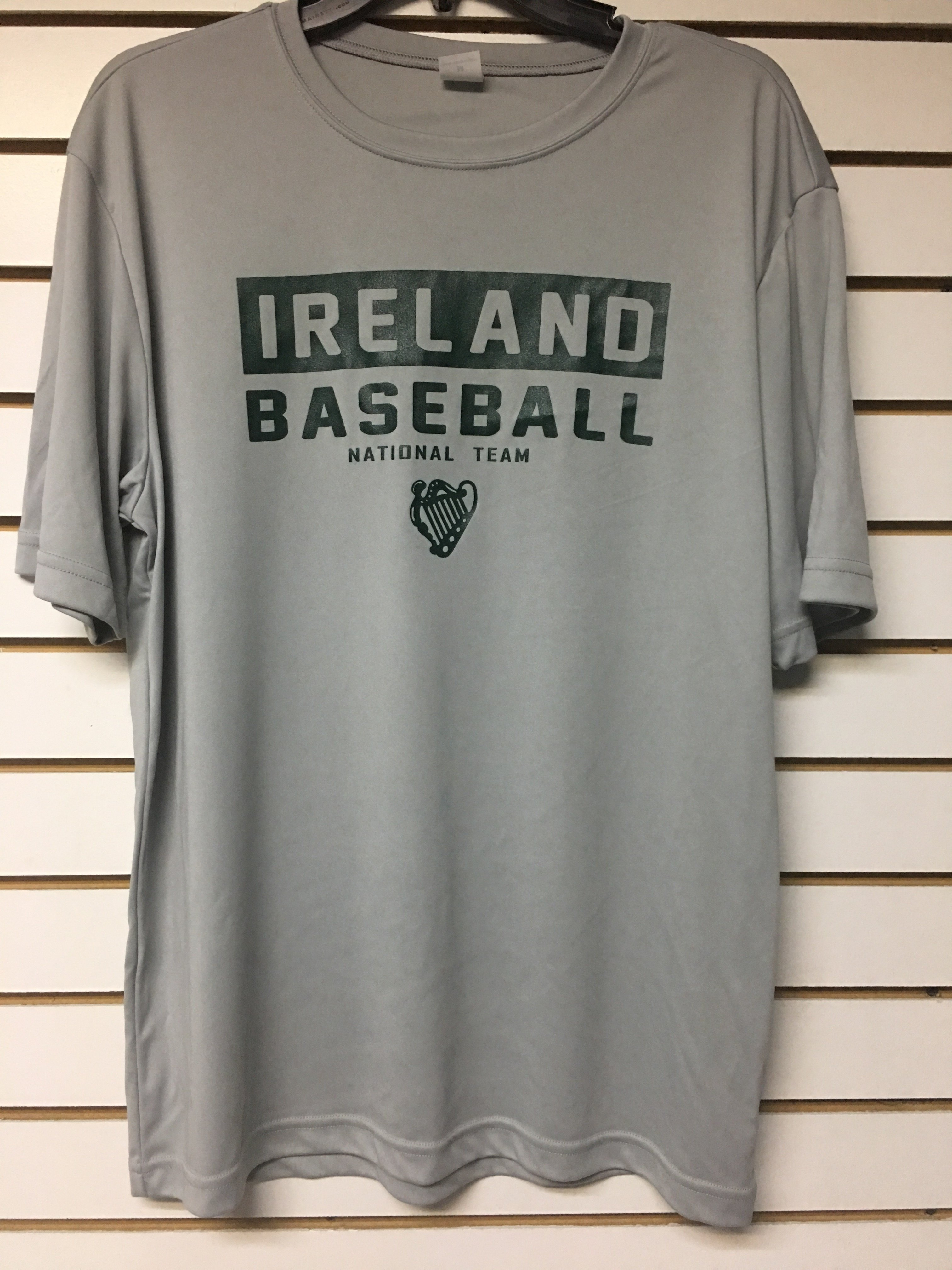 Gray Ireland Baseball Dri Fit Shirt by Sportek 00006