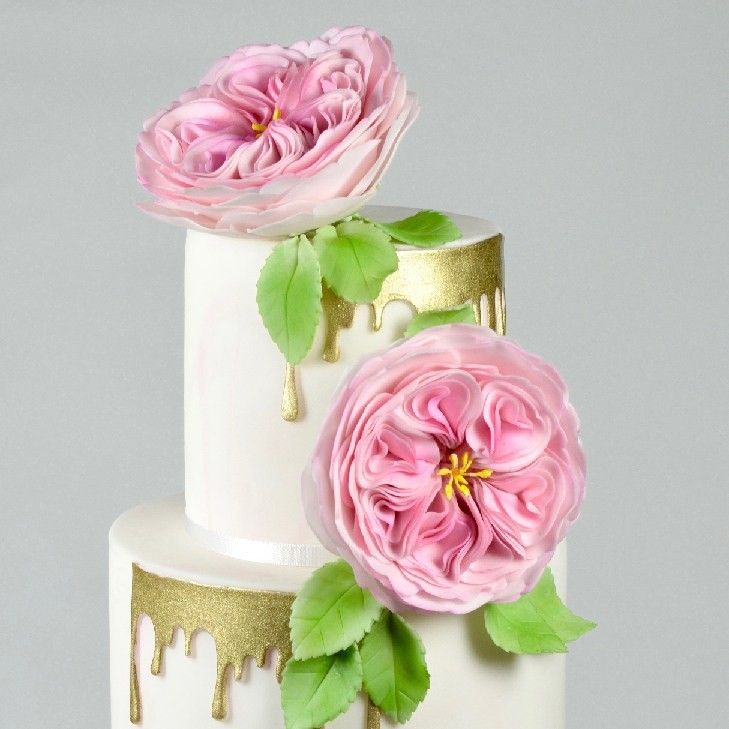 FMM Flower Cutters -'A VERY ENGLISH ROSE' inspired by David Austin Roses 3 τεμ