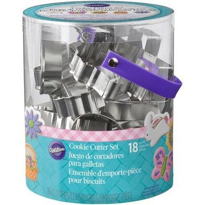Wilton Easter -Tub of 18 Metal Cookie Cutters -EASTER 18 τμχ.